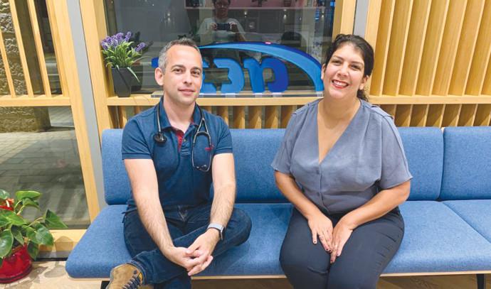 המטופלת שני פלדמן ודוקטור דן אויירו