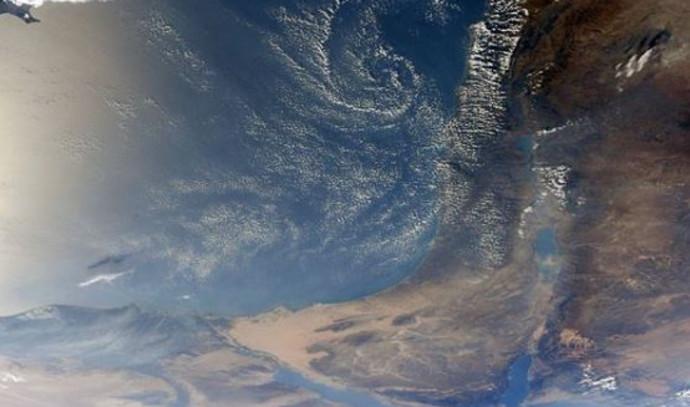 צילום של ישראל מהחלל