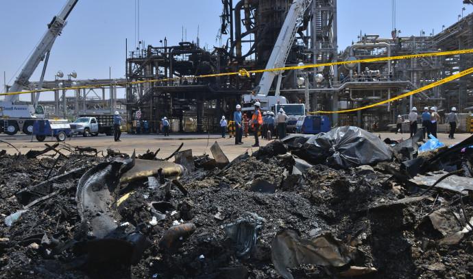 """מתקני הנפט שהותקפו בסעודיה ע""""י איראן"""