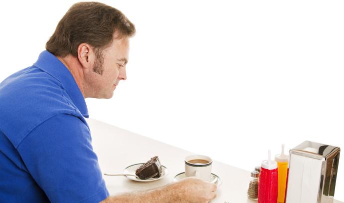 איש אוכל עוגה, אילוסטרציה