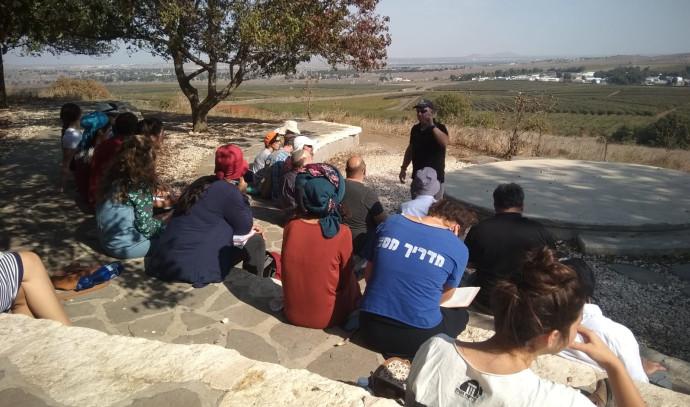 סיורי העשרה למדריכי טיולים בגבול סוריה