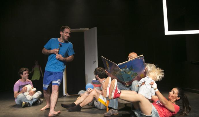 קבוצת תיאטרון משולבת בסמינר הקיבוצים