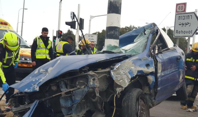 תאונה סמוך לרחובות