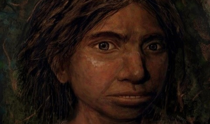 הדמייה של הנערה הדניסובית ששוחזרה במחקר
