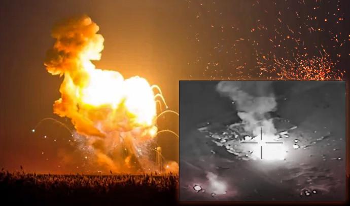 התקיפה האמריקאית בעיראק (צילום: צילום מסך)