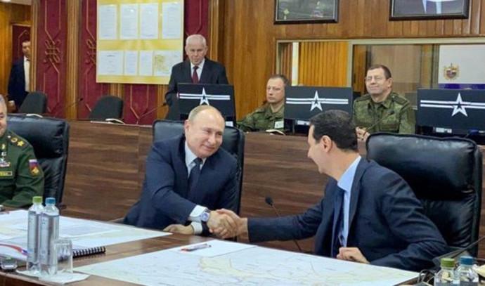 בשאר אסד, ולדימיר פוטין