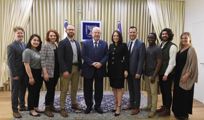 מייסדי Passages עם הנשיא ראובן ריבלין