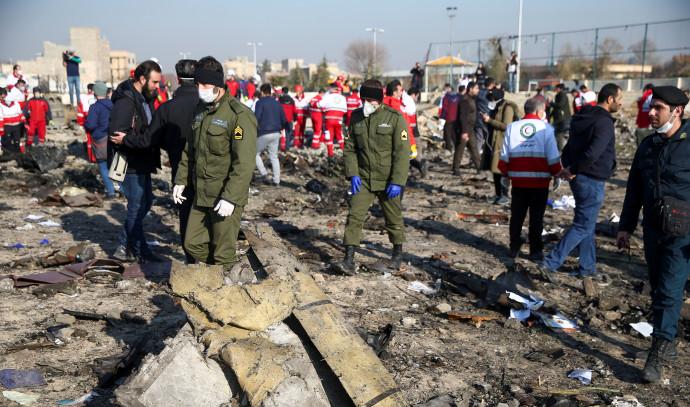 התרסקות המטוס האוקראיני צילום: רויטרס