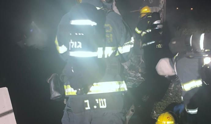 שריפה ברמת הגולן