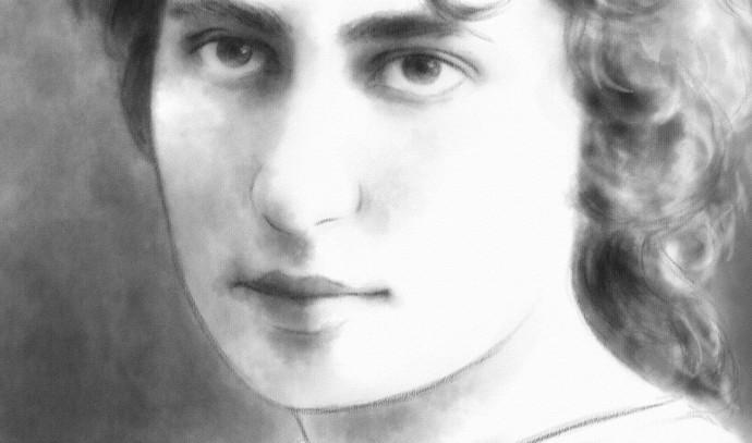 המשוררת רחל (עיצוב: רותי יואל)