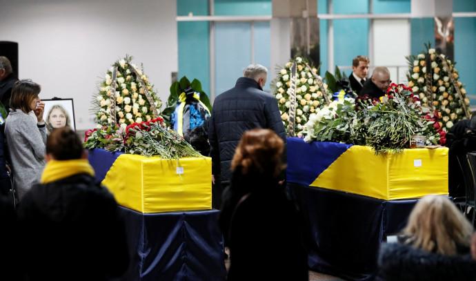 ארונות הרוגי התרסקות המטוס האוקראיני