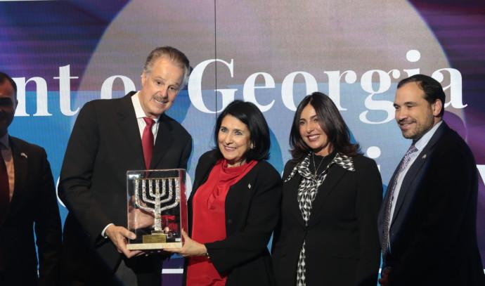 השרה רגב ונשיאת גאורגיה