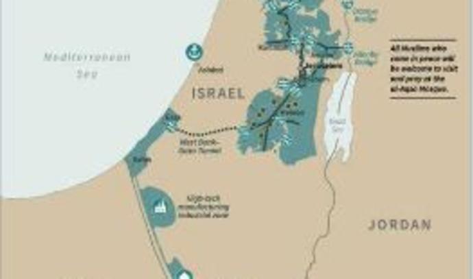 מפת ישראל על פי תכנית המאה