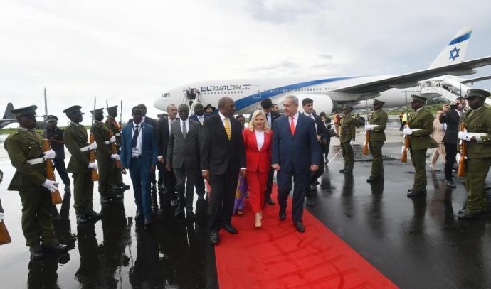 בנימין ושרה נתניהו באוגנדה
