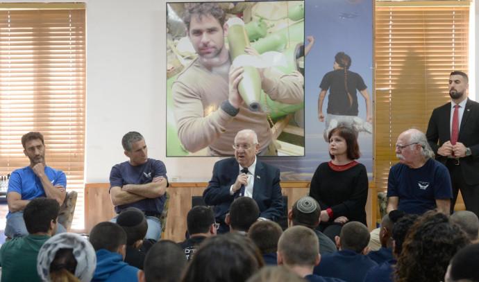 הנשיא ריבלין בכפר הנוער נירים