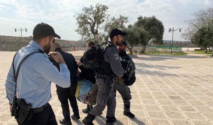 מעצרו של גליק בהר הבית (צילום: צילום פרטי)