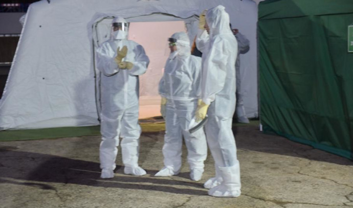 הצוות הרפואי בבית החולים שיבא