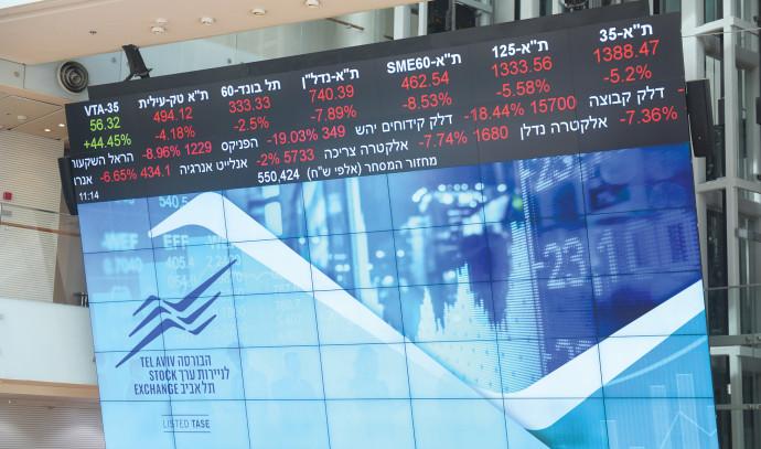 צניחת מדדים בבורסה