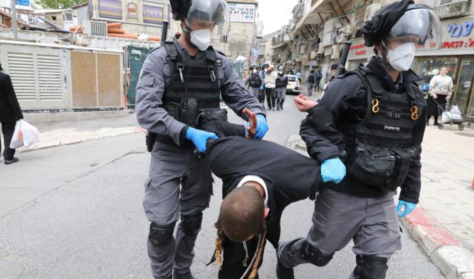 קורונה: אכיפת המשטרה במאה שערים, ירושלים