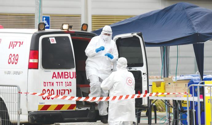 קורונה: צוות רפואי בבני ברק