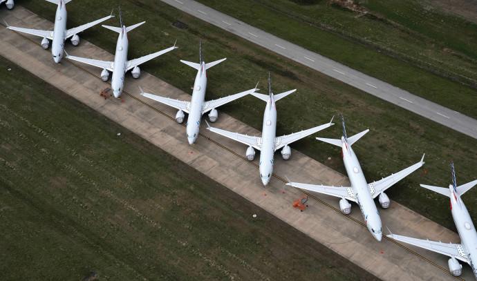 """מטוסים מקורקעים בארה""""ב"""