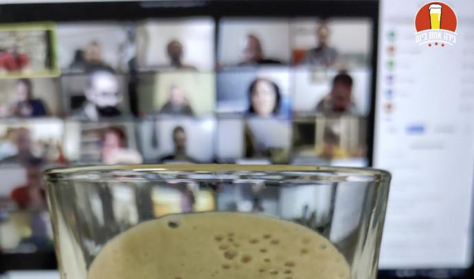 טעימת בירה ב- Zoom