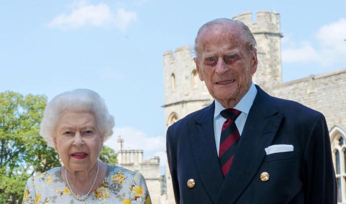 הנסיך פיליפ עם המלכה אליזבת