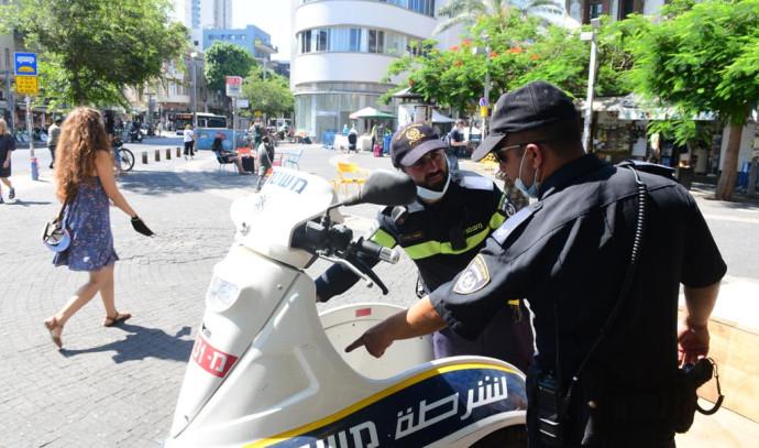 """קורונה בישראל: אכיפה בת""""א"""
