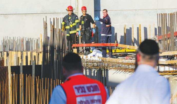 אתר בנייה בו הייתה תאונה בקרית גת