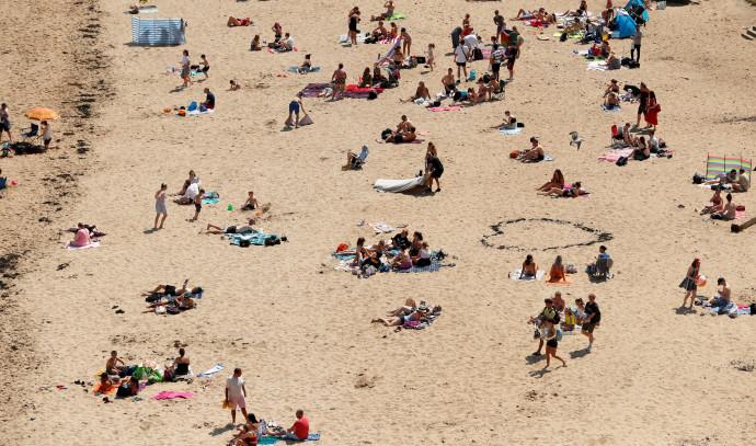 חוף ים בבריטניה - אילוסטרציה