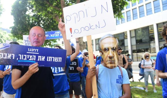 הפגנת העצמאים בשדרות רוטשילד בתל אביב