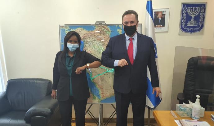 """ישראל כ""""ץ, פנינה תמנו שטה"""