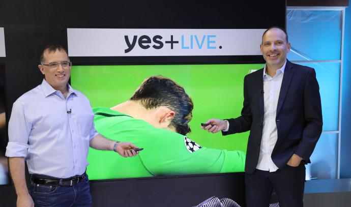 רן גוראון ואילן סיגל מציגים את שירות Yes+ Live