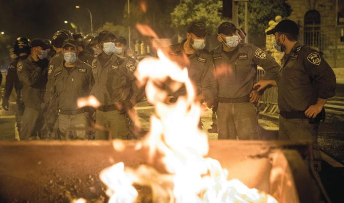 הפגנה מול מעון ראש הממשלה בירושלים, ארכיון