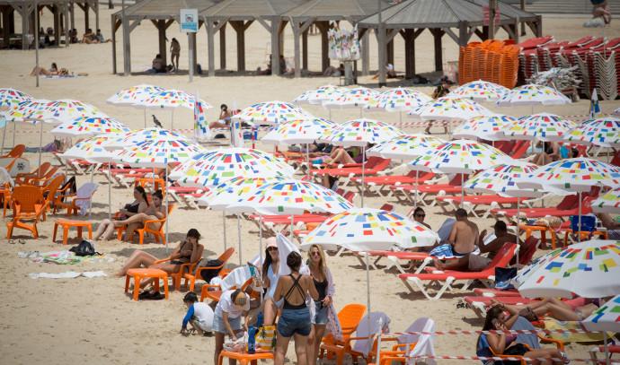 חוף הים ביום חמסין