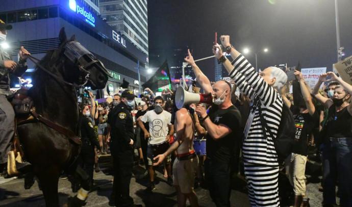 ההפגנה אמש בתל אביב. צילום: אבשלום ששוני