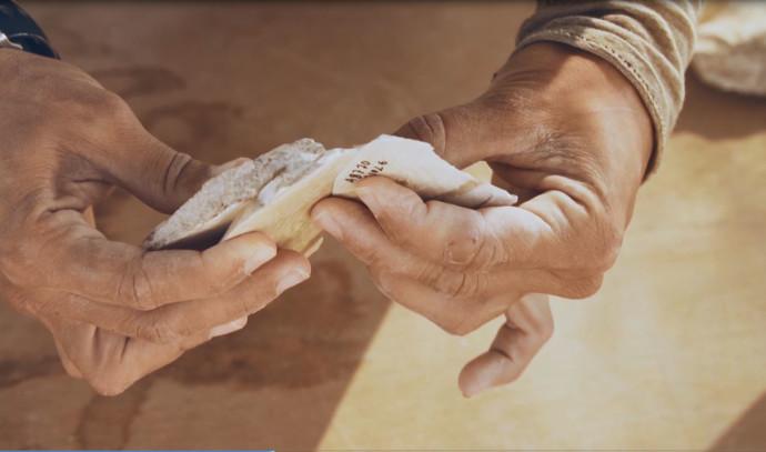 כלי הצור העתיקים שנמצאו סמוך לדימונה