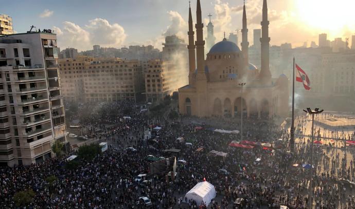 הפגנות ענק בביירות בירת לבנון