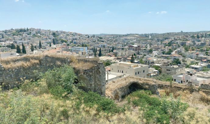 הנוף מהמבצר בשפרעם