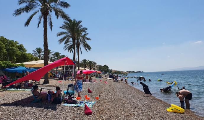 חוף כורסי בכנרת, היום