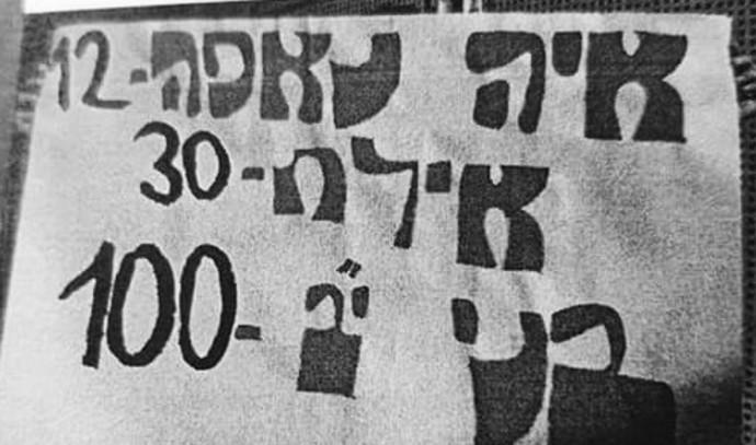 השלט מעודד האונס שנתלה בכניסה לתיכון בכפר סבא
