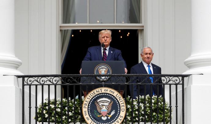 טראמפ ונתניהו בחתימת ההסכמים בבית הלבן