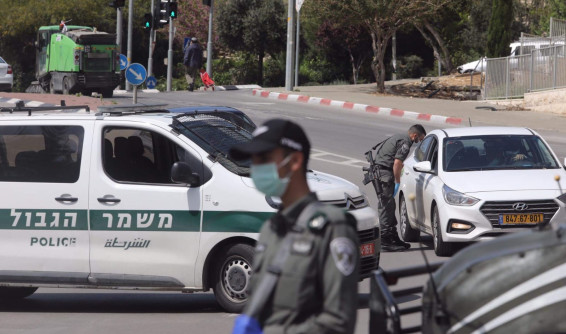 קורונה: מחסומים לאכיפת הסגר בשכונת גבעת שאול בירושלים