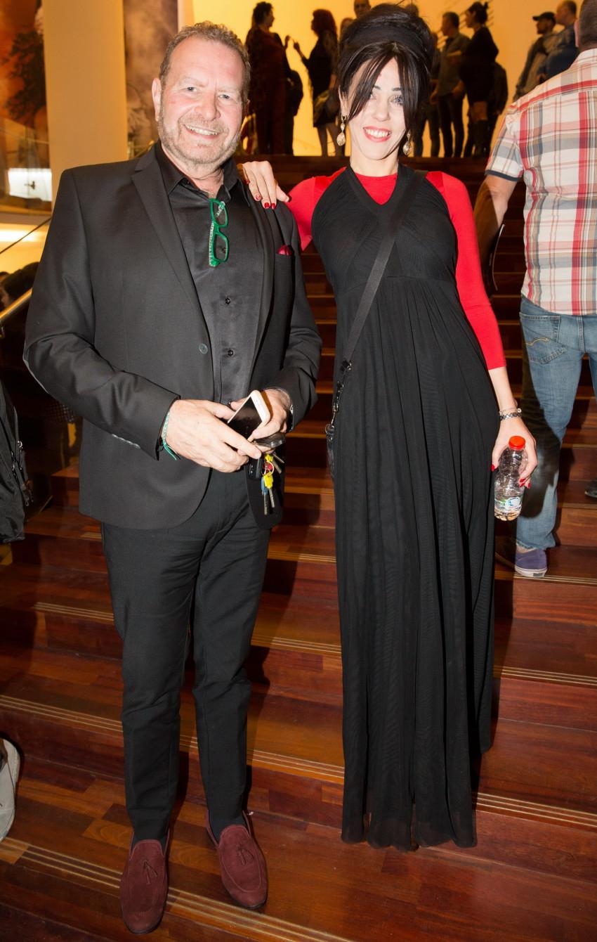 דודו פישר ואשתו רויטל (צילום: איציק בירן)