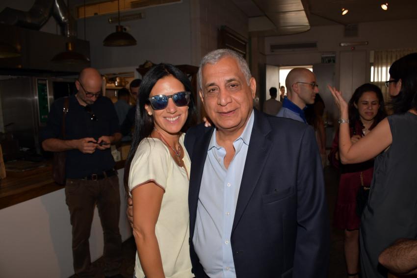 פנחס (פיני) כהן ומיכל ברק (צילום: אביב חופי)