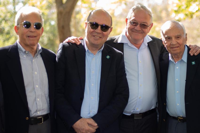 מורט מנדל, אלן ברקלי, משה ויגדור ויהודה ריינהרץ (צילום: יריב ויינברג)