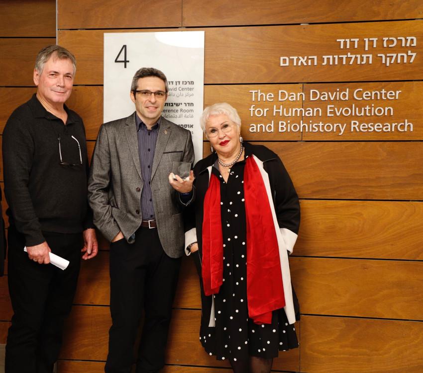 גבריאלה דוד, אריאל דוד, ישראל הרשקוביץ (צילום: יהונתן צור)