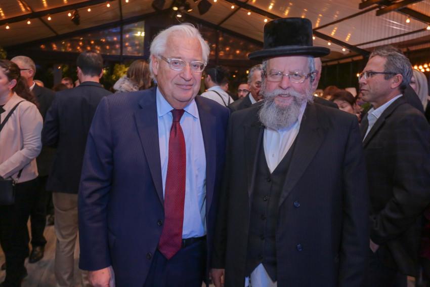 אברהם אלימלך פירר ודיוויד פרידמן (צילום שי שבירו)