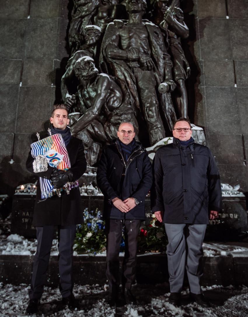 רפאל מילצ'רסקי, גונן אוסישקין ומיקי שטרסבורגר (צילום: Marta Kusmierz)
