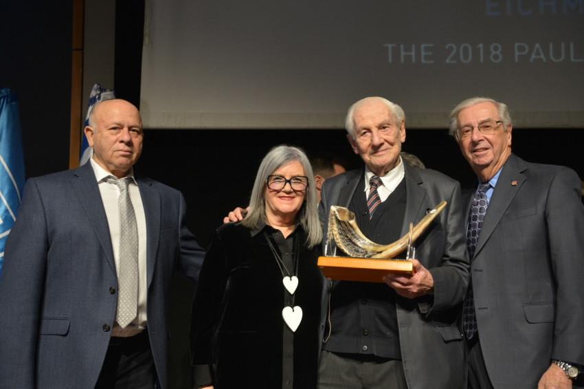 פול מילר, גבריאל בך, פיליס היידמן ושמואל רוזנמן (צילום: יוסי זליגר)
